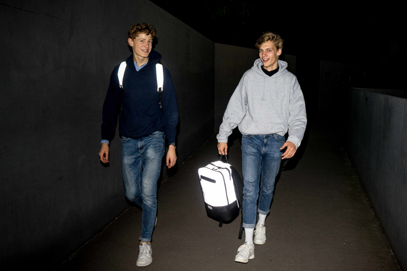 OAK25 Emil Woermann Jacob Leffers reflective backpack kickstarter founders