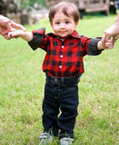 Red Buffalo Plaid Bodysuit