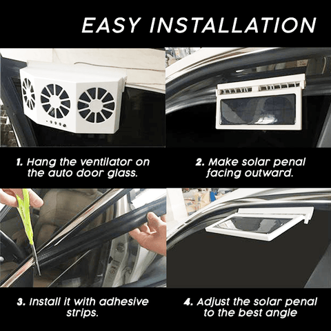 Solar-Powered Car Ventilator Cooler