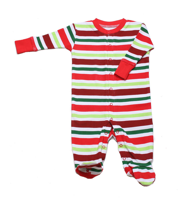 Holly Jolly Stripes Organic Footie