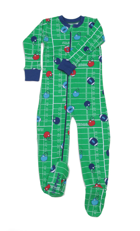 Football Organic Toddler Footie