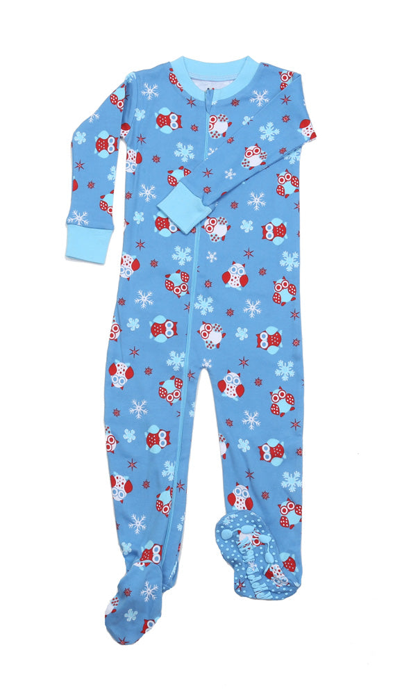 Snow Owls Toddler Footie