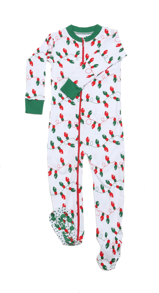 Christmas Lights Toddler Footies