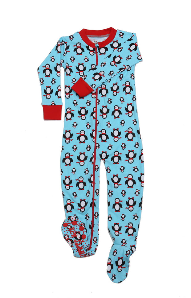 Poised Penguins Toddler Footies