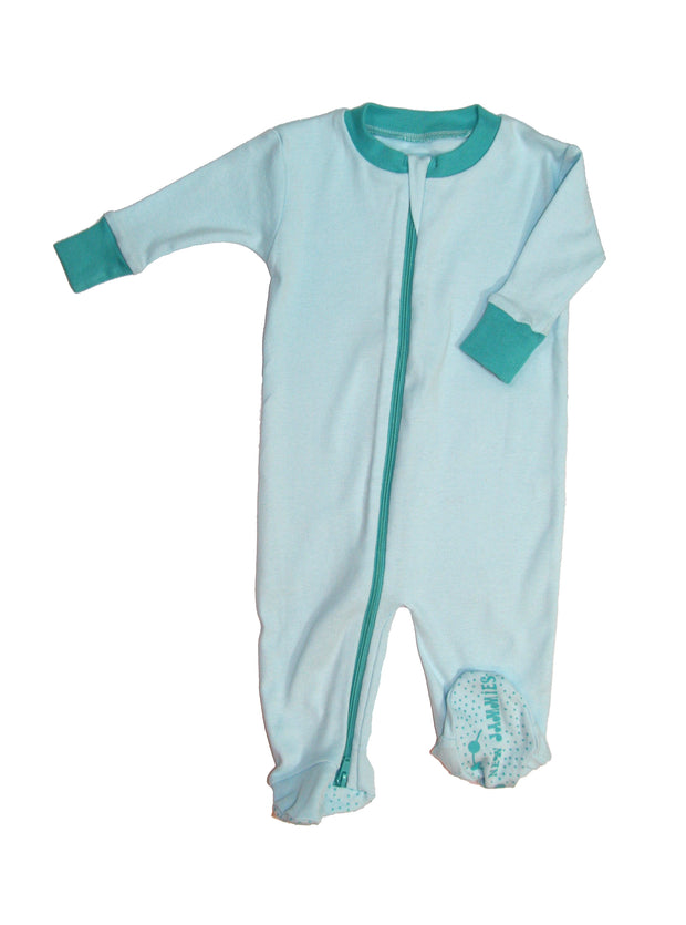 Seaglass DOUBLE ZIP Organic Cotton Footie
