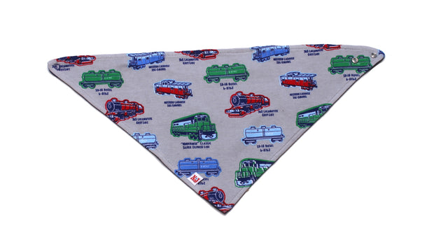 Locomotive Organic Kerchief Bib
