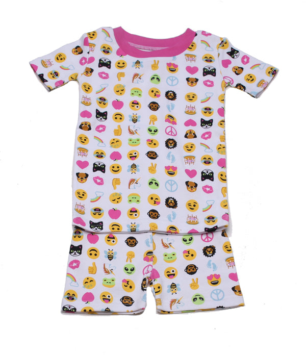 Emoji Love Organic Short PJ
