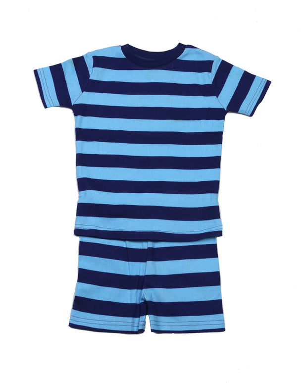Classic Stripe Organic PJ Short Set Blue/Navy