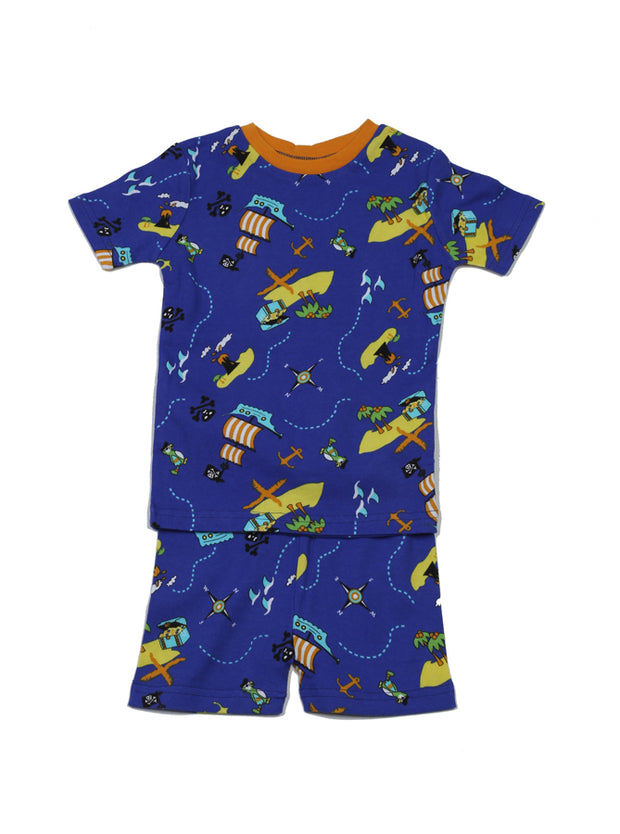 Pirate's Ocean PJ Short Set