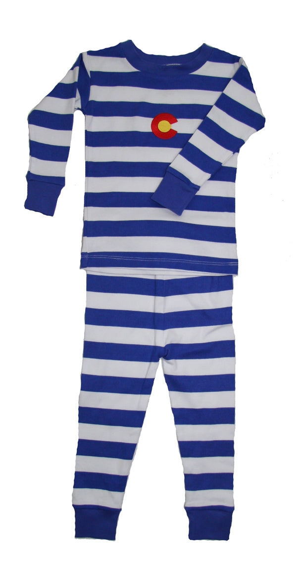 Colorado Organic PJ Royal Blue White