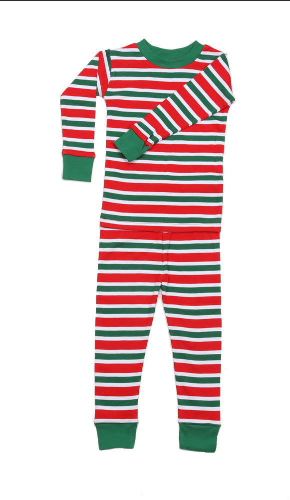 Christmas Stripes Organic Pajamas