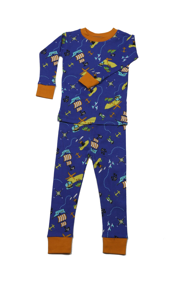Pirate's Ocean Organic Cotton Pajamas