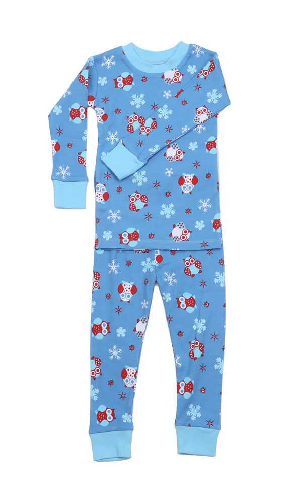 Snow Owls Organic Cotton Pajamas