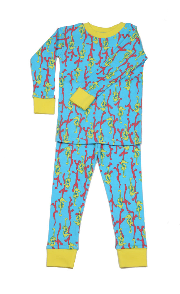 Seahorses Organic Cotton Pajamas
