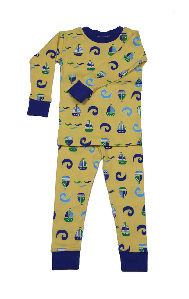 Sailboats N'Waves Organic Cotton Pajamas
