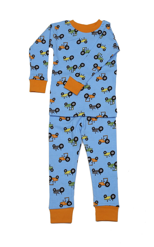 Tractors Organic Cotton Pajamas