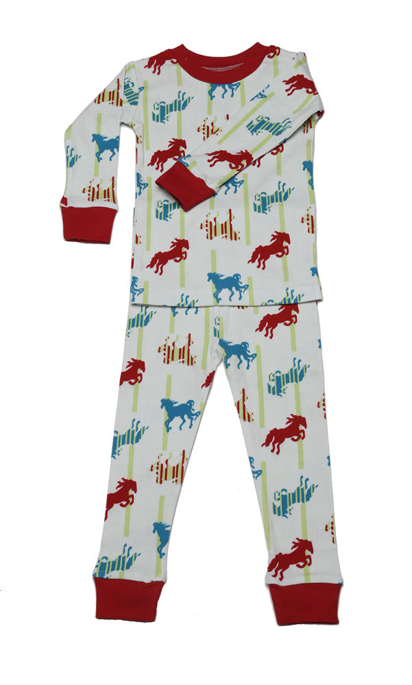 Horses N'Stripes Organic Cotton Pajama