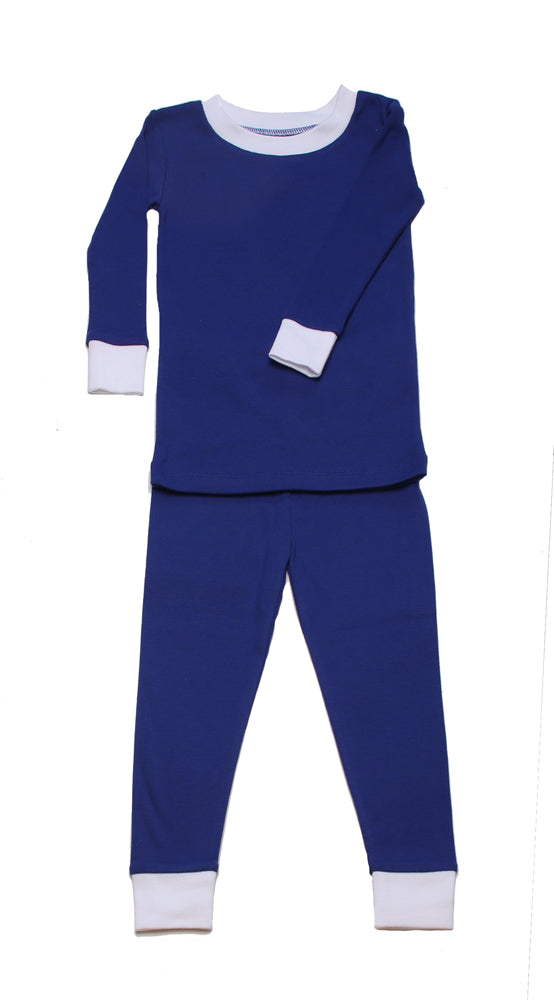 Simply Solids Navy Organic Pajamas