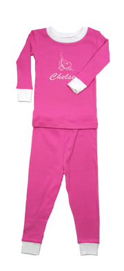 PERSONALIZED Swirly Heart Organic Pajamas
