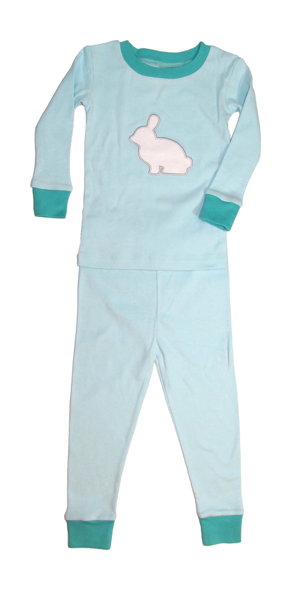 Applique Bunny Organic Cotton Pajamas