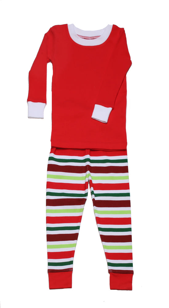 Holly Jolly Stripes PERSONALIZED PJ