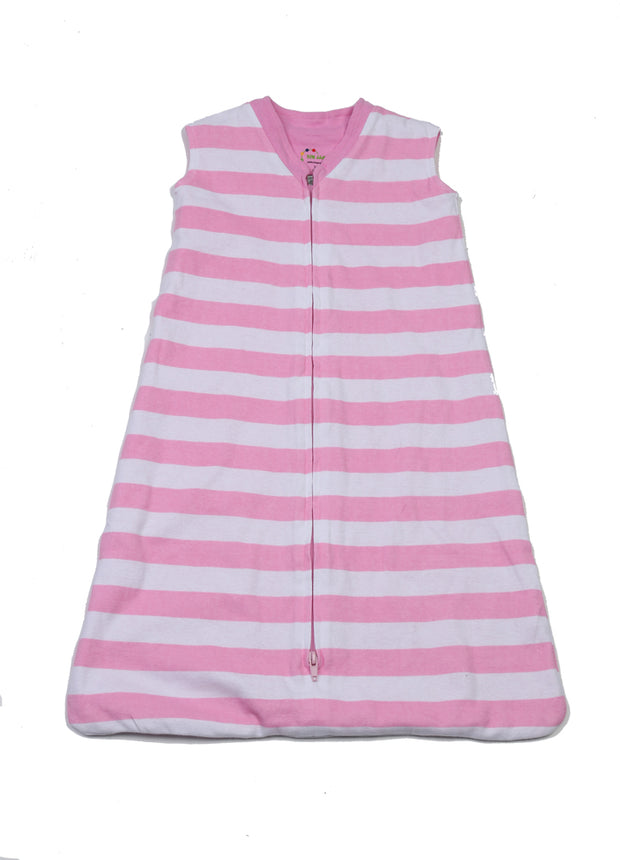 Classic Stripes Organic Wearable Blanket Pink/White