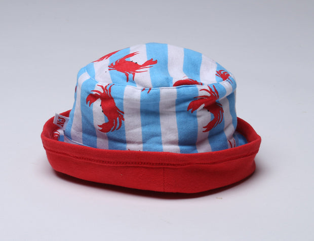 Crabs N' Stripes Knit Roll Hat