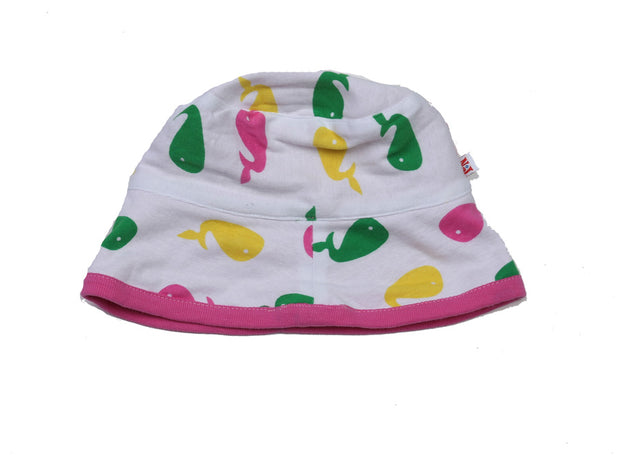 Whale Knit Roll Hat Pink