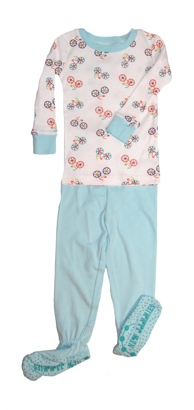 Bicycles Organic Cotton Footed PJ Set