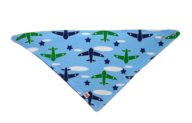 Airplanes Organic Kerchief Bib