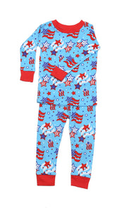 Star Spangled Organic Cotton Pajamas
