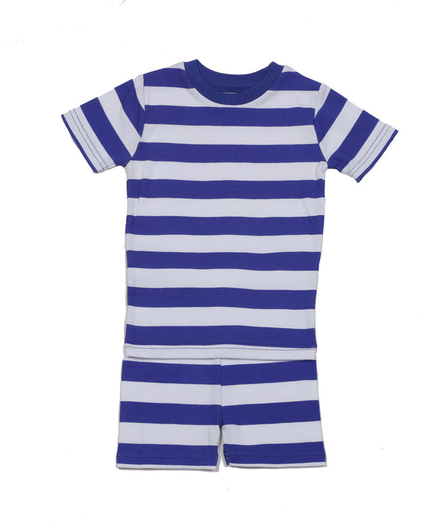 Classic Stripe Organic PJ Short Set Blue/White