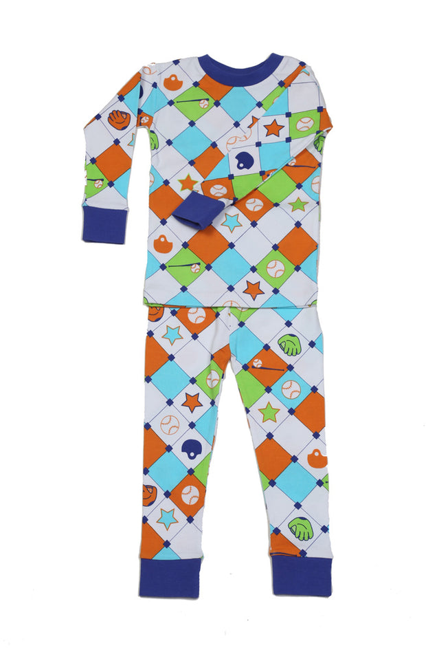 Baseball Diamonds Organic Cotton Pajamas