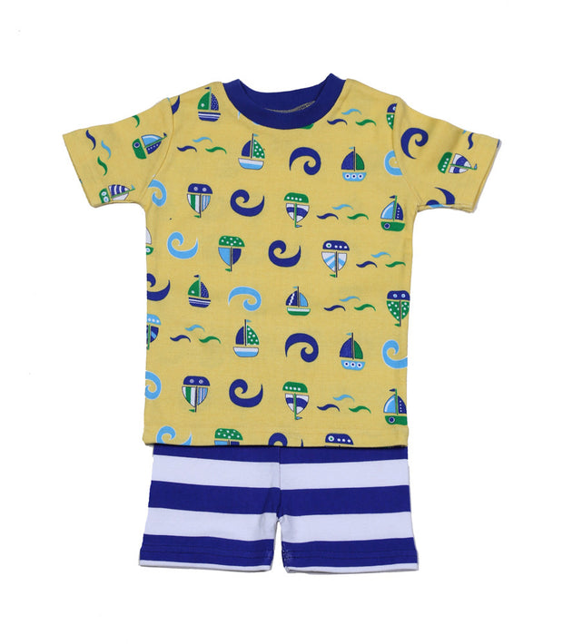 Sailboats N' Waves PJ Short Set