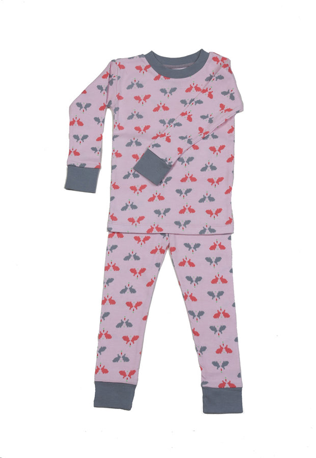 Bunnies N'Carrots Girls Organic Cotton Pajamas