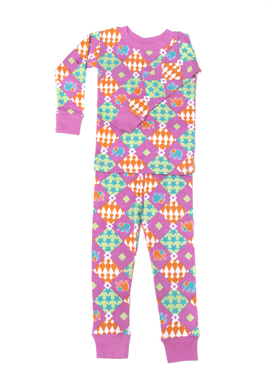Carnival of Elephants Organic Cotton Pajamas