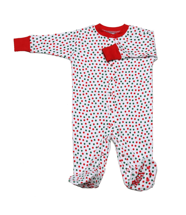 Christmas Dots Organic Footie