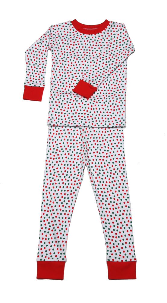 Christmas Dots Organic Pajamas