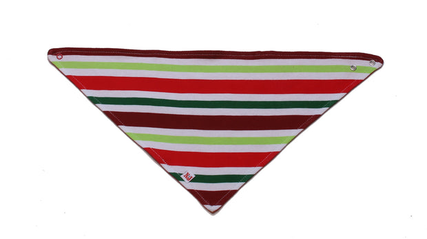 Organic Kerchief Bib Holly Jolly Stripes