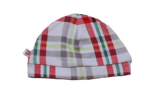 Organic Beanie Winter Plaid