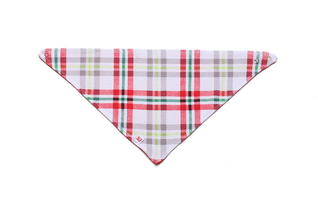 Organic Kerchief Bib Winter Plaid