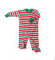Christmas Stripes Organic Footie