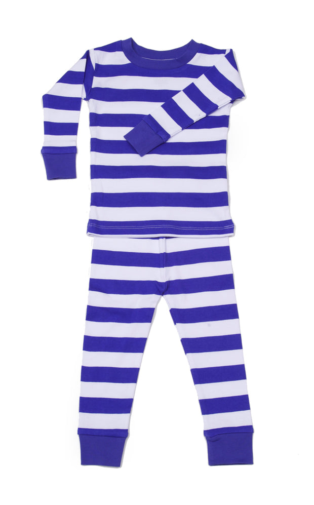 Classic Stripes Blue/White Organic Pajamas