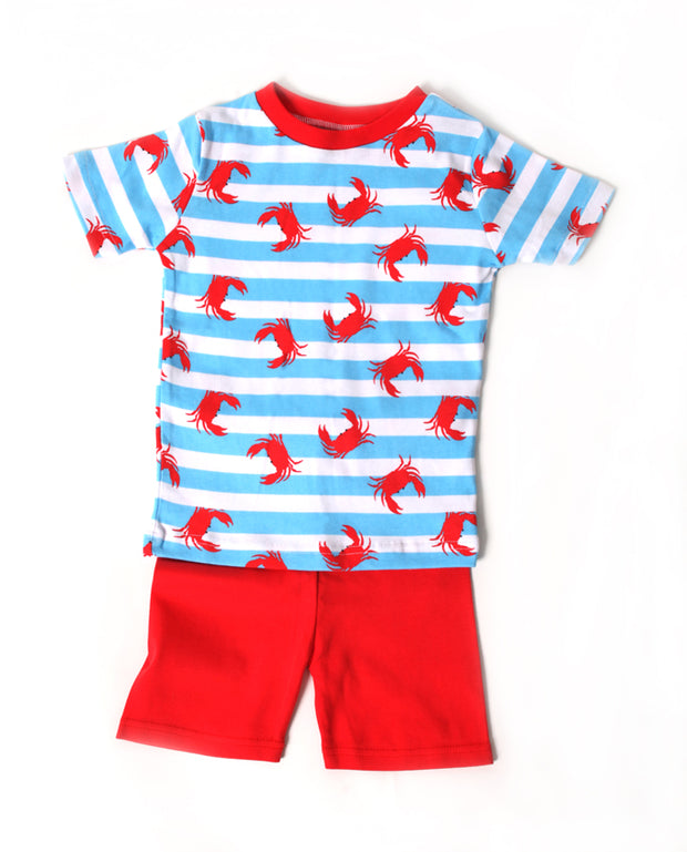 Crabs N'Stripes PJ Short Set
