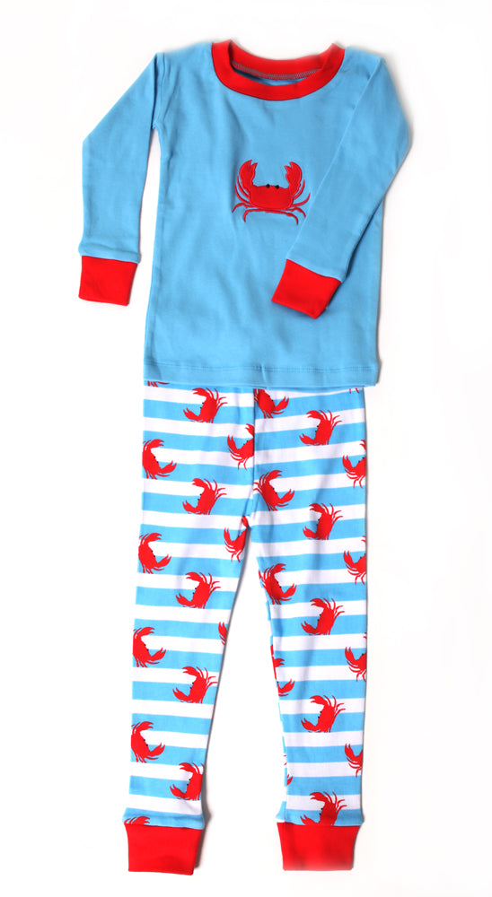 Crabs N'Stripes PERSONALIZED Organic Pajamas