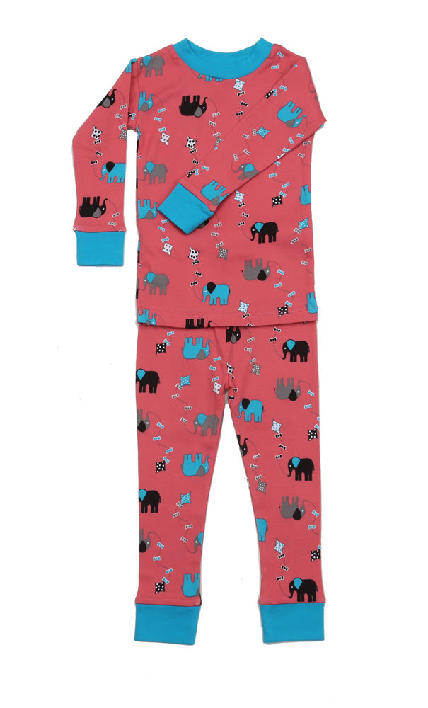 Elephant Kites Organic Cotton Pajamas