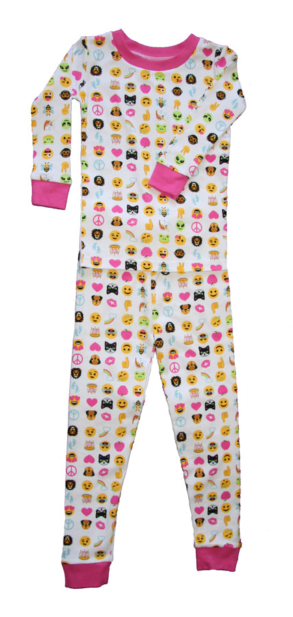 Emoji Love Organic Cotton Pajamas