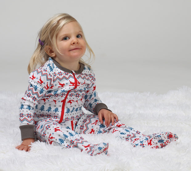 Fair Isle Toddler Footies