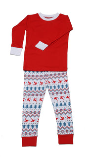 Fair Isle PERSONALIZED Organic Pajamas