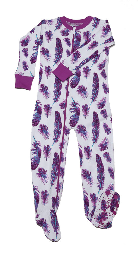 Feathers Toddler Footie